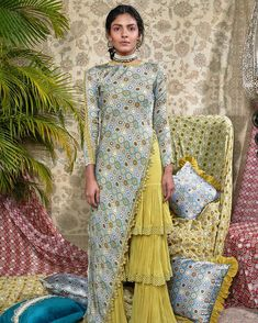 Designer dresses indian - Perfect Colorful Lehenga For Your Sangeet Ceremony by Anushree Reddy Pakistani Dress Design, Pakistani Dresses, Indian Dresses, Designer Party Wear Dresses, Indian Designer Outfits, Indian Fashion Trends, Indian Wedding Outfits, Indian Outfits, Indian Clothes