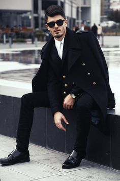 fa512427a39 Zara mens all black classic look