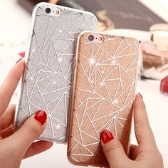 Fashion goddess essential Wish | Prismatic TPU Seamless Glitter Slim Combo Soft Ultra-thin Mobile Phone…