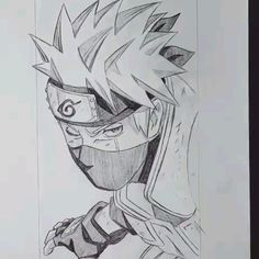 Kakashi Drawing, Naruto Sketch Drawing, Art Drawings Sketches Simple, Anime Sketch, Easy Drawings, Goku Drawing, Naruto Art, Anime Naruto, Naruto Drawings Easy