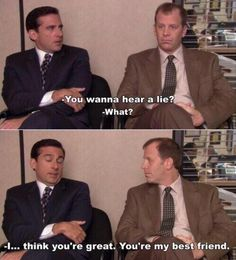 Michael Scott and Toby!