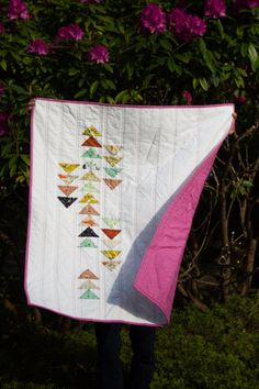 The Compass Quilt Modern Baby Quilt Custom by ReverieQuiltCo