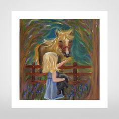Girl & Pony Giclée Print by Rae Rusling at The Bristol Shop