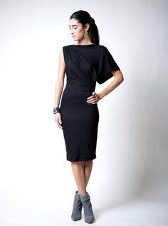 NEW Dress / Designer Off Shoulder Shoulder Dress / by marcellamoda