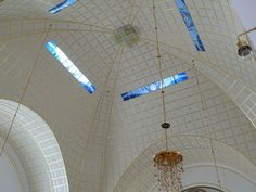 Vaulted ceiling in Steinhof Church, Vienna, Austria....dreaming really big!