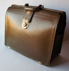 Vintage Olive/Brown Leather Case Attache by PoorLittleRobin, $72.00