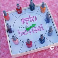 The board you put nail polishes so you can play it The nail polish board game is a very fun game for sleep overs for your kids and he/hers friends Other