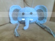 Adorable Elephant Hat Custom colors available. In sizes newborn and up! Order yours today by sending an email or finding us on facebook. Don't forget to repin, share, follow, and like! www.facebook.com/TouteBeauteBoutique