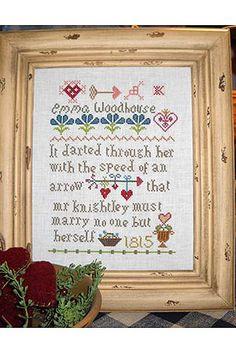 Totally bought this!! Eeek!  Pattern - 'Emma - Jane Austen' - Sampler Jane Austen Online Giftshop