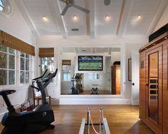 home gym w/sauna or steam room, my dream!
