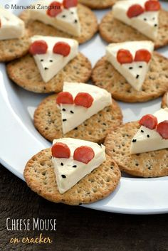 """<p class=""""MsoNormal"""">These cheese mice are just adorable! Get the recipe…"""