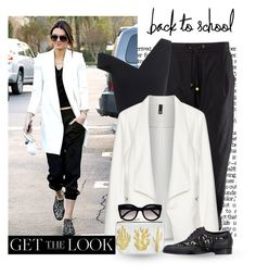 """""""Get the Look: Kendall Jenner"""" by jasminerb ❤ liked on Polyvore featuring Maticevski, Manon Baptiste, Nicholas Kirkwood, Amelie Mancini, Retrò, StreetStyle, BackToSchool, kendalljenner, contestentry and gettelook"""