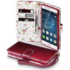 Köp Terrapin Mobilfodral Huawei P9 Blommor Röd online: http://www.phonelife.se/terrapin-mobilfodral-huawei-p9-blommor-rod