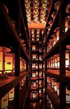 Lanterns at Mt. Koya, Japan