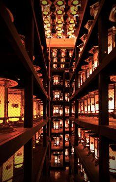 Room Full Of Lanterns - Kongobu-ji temple, Wakayama, Japan