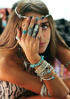 bohemian layered turquoise jewelry