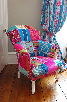 Got to love a patchwork chair...