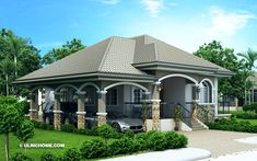 Modern Two Bedrooms And Two Bathrooms Bungalow House Plan - Ulric Home