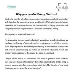 Nanny contract rocket lawyer interview nannyingchildcare printable nanny contract platinumwayz