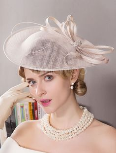 Flax Rhinestone Feather Fascinators Hats Headwear with Floral Wedding  Special Occasion Outdoor Headpiece e31dff4a7312