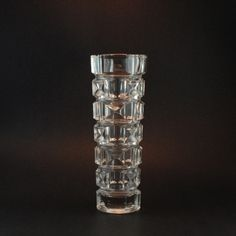 Vintage Geometric Glass Vase - Pressed Glass - Czech Bohemian Glass, Perhaps Sklo Union. $38.00, via Etsy.