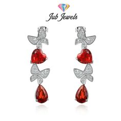 Heart & Butterfly Earrings - Jub Jewels