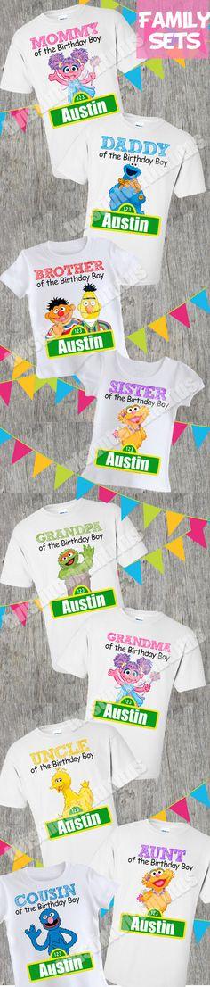 Sesame Street Birthday Shirt Family Set | Sesame Street Birthday Party Ideas | Sesame Street First Birthday | Elmo Birthday Party Ideas | Elmo Birthday Family Shirts | Twistin Twirlin Tutus #sesamestreetbirthday