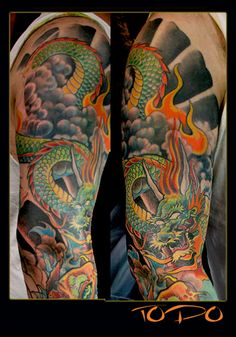 maybe something similar for my right 1/2 sleeve and chest plate?? different design, but I like the colors