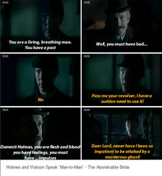 The Abominable Bride: in which Sherlock reacts the way asexuals everywhere do when confronted with such a conversation.