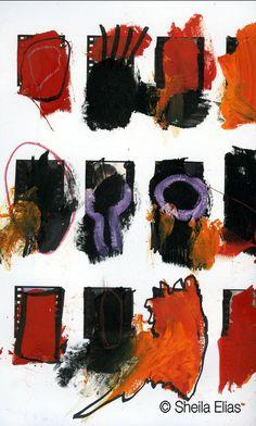 """Sketchbook III-31,"" Sketchbook Series, 2009 Sheila Elias - Contemporary Artist. All rights reserved ® 2014"