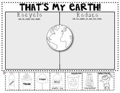 (sample page) Thats My Earth! {Reduce and Recycle} Sort for Earth Day. Kindergarten Science, Science Classroom, Teaching Science, Preschool, Classroom Ideas, Spring School, School Fun, School Ideas, Worksheets