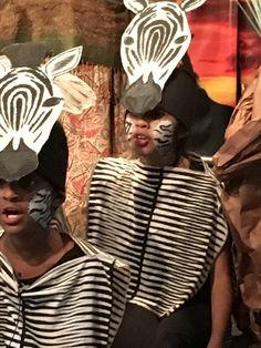 Disney's the Lion King Musical. Zebra Masks