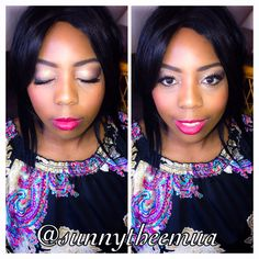 Natural glam on one of my clients