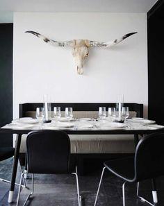 BLACK+WHITE DINING Breakfast Nook | Erika Brechtel | Brand Stylist