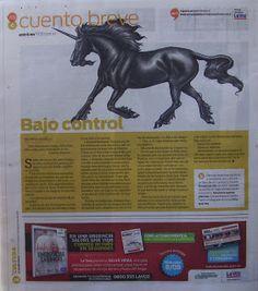 """""""La Voz del Interior""""  Periódico argentino,   Publica   """"Bajo Control""""   Sección """"Vos""""  5/09/10  Patricia Nasello microrrelatos: Publicaciones en Argentina"""