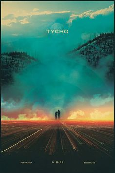"""Lithograph commemorating Tycho's first show ever in Boulder, CO. Dimensions : 16"""" x 23 7/8"""" Printed on 100# Superfine Eggshell Text, White. All ISO50 prints come in rigid, super sturdy .125 thick rein"""