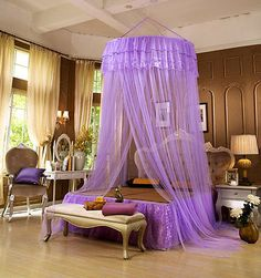 Online Shop Cute Beige Pink Girls Hung Dome Mosquito Net for Double Bed Solid Lace Summer Round Canopy Beds Zanzariera Moustiquaire Lit