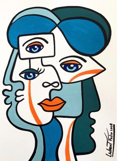 Small Canvas Art, Canvas Artwork, Dibujos Zentangle Art, Abstract Face Art, Cubist Art, Picasso Art, Art Plastique, Graphic, Collage Art