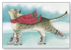 Send a furry holiday greeting with Cat Christmas Cards! Cat Christmas Cards, Christmas Animals, Vintage Christmas Cards, Funny Christmas, I Love Cats, Crazy Cats, Cute Cats, Cat Paws, Dog Cat