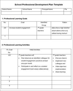 Image result for professional development plan it teaching plan templates in word professional development plan template free word documents pronofoot35fo Gallery