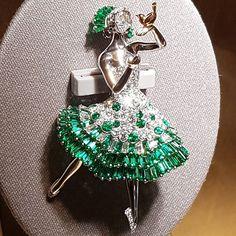 The delightful Spanish ballerina clip wear a flared dress in in diamonds and…