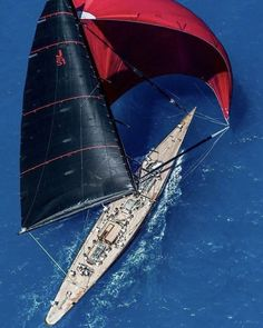 J-Class! #ocean #sunset #blue #sail #sails #sailor #sailing #sailors #sailaway #sailingaway #sailinggirls #sailinginstagram #sailboats #sailboat #summer #race #sailworld #life #knots #love #regatta #sea #sun #wind #clouds #sunrise #spinnakers #closehauled #upwind #downwind