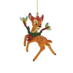 *BAMBI ~ Disney Christmas Magic Grolier Tree Ornament Figurine Bambi Birds with Garland Disney Christmas Ornaments, Hallmark Ornaments, Christmas Themes, Holiday Decor, Bambi Disney, Mickey Mouse And Friends, Disney Halloween, Xmas Decorations, Garland
