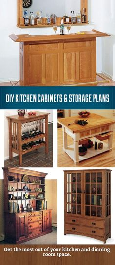 Save money and build your own kitchen cabinet, hutch, bar or island with these plans as a guide.