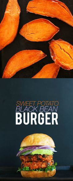 Sweet Potato Black Bean Burger - Simple, wholesome and SO delicious!