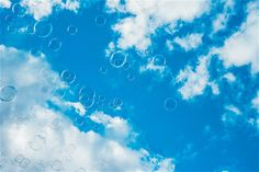 Thousands of Bubbles Against Bright Blue Sky Free Stock Photo Sky Images, Sky Photos, Abstract Images, Nature Photos, Stock Photo Sites, Free Stock Photos, Free Photos, Free Sky, Forest Girl