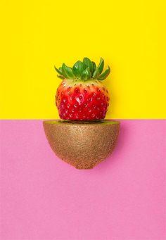 art direction | kiwi strawberry still life photography