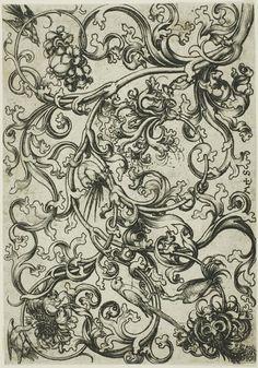 Martin Schongauer  Vine Ornament Mit Vogel  |  (öl, Gemälde, Reproduktion, Kopie, Gemälde).