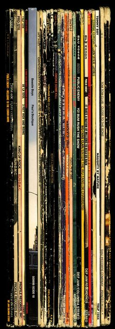 A collection of LP's from back in the day.