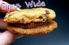 SEA SALT CHOCOLATE CHIP COOKIES SANDWICHED WITH PEANUT BUTTER CUPS - Hugs and Cookies XOXO